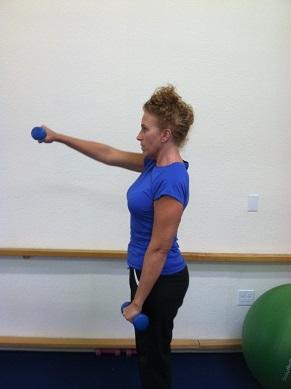 shoulder front arm raise image