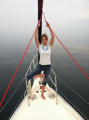 yoga pose on the water image