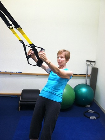 trx rowing exercise image