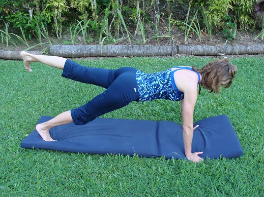 plank with leg extension image