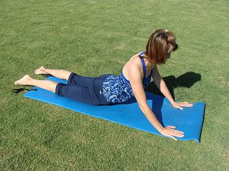 back stretching exercise image