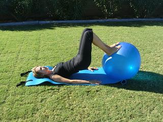 pilates core ball exercise image
