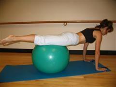 pilates ball exercise image