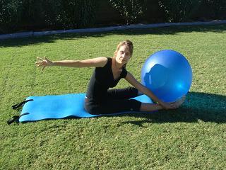 pilates saw exercise ball image