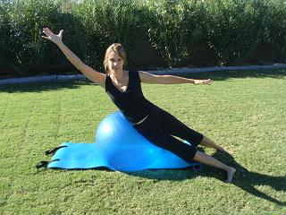 exercise ball side extension image
