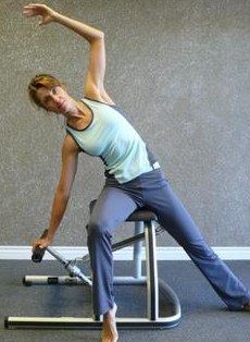 pilates chair side stretch image