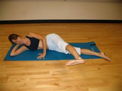 pilates hip flexor exercise imag