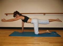 kneeling balance back exercise image