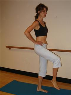 one leg stand bone building exercise image