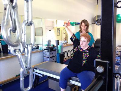 Larger  Women can do Pilates too.