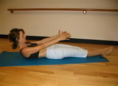 Pilates flat stomach exercise image