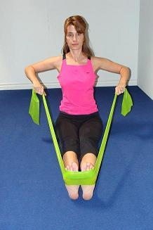 shoulder rowing exercise image