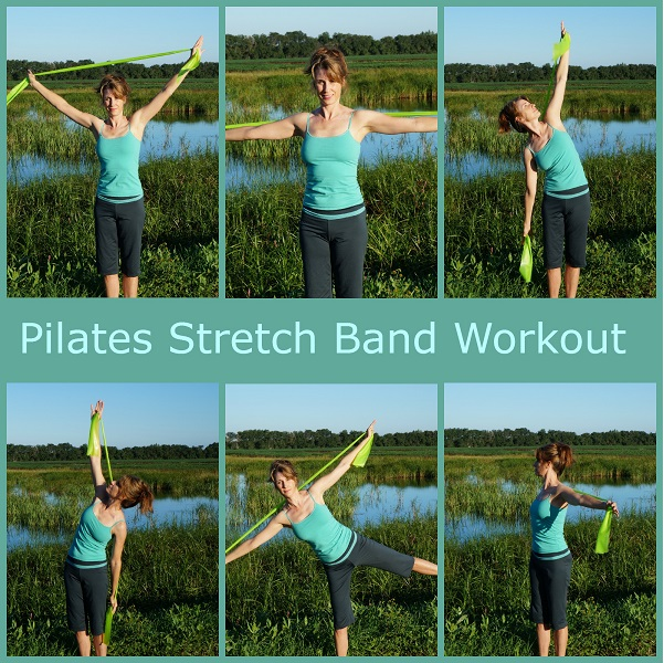pilates stretch band workout image