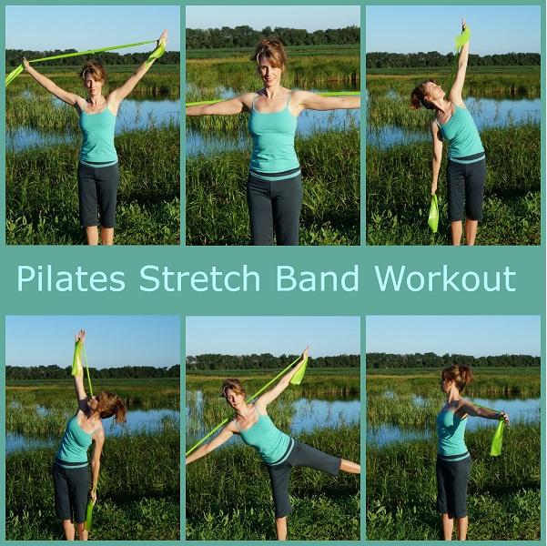 pilates stretch band workout image