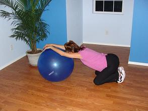 exercise ball stretch image
