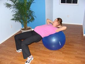 pregnant exercise ball hip lift image