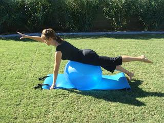 Exercise ball for Spinal Fusion