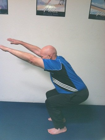 psoas exercise doing squat image