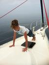 Pilates plank on a boat!