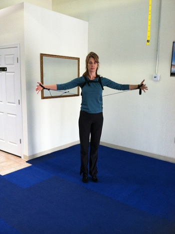 Pilates standing exercise image