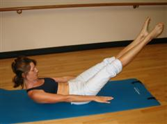 pilates warm up exercise image