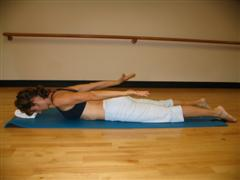 pilates beginner back extension exercise image