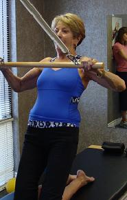 Pilates pulling exercise imag