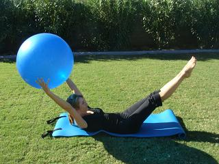 core pilates ball exercise image