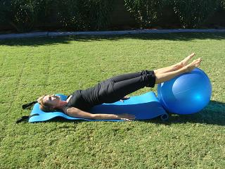 hip lift on exercise ball image