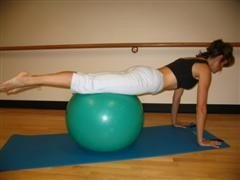 stability ball pushup image