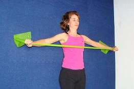 chest stretch with exercise band imag