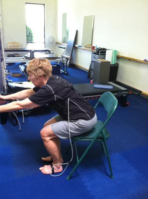Knee bends from a chair