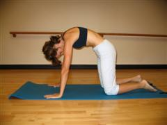 Pilates back flexion stretch image