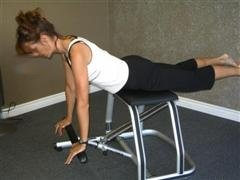 pushups on pilates wunda chair image