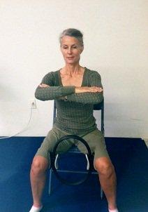Pilates Ring leg squeeze imag
