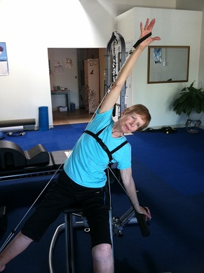 Woman with Osteoporosis doing Pilates