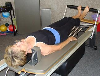pilates reformer footwork image