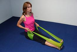 upper back pain rowing exercise image