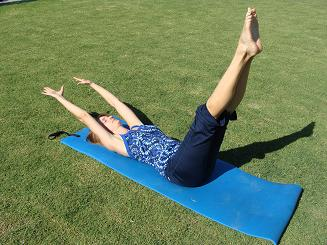 pilates stretch image