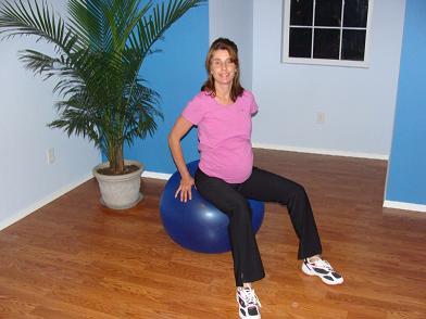 prenatal pilates ball imag