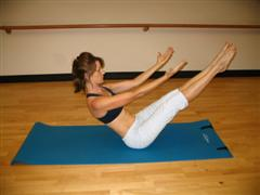 pilates teaser for a flat belly image