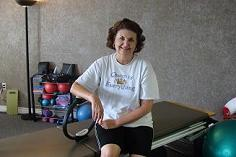 picture of lady with Pilates question