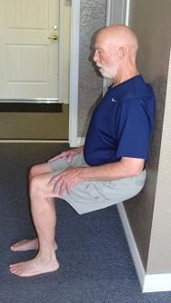 wall slide or squat exercise image